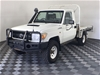 2012 Toyota Landcruiser Workmate (4x4) T/Diesel Manual C/Chassis 116,903km