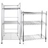 2 x Storage Racks; Comprising; Silver Finish Foldable Rack. 3 Tier. Dimensi