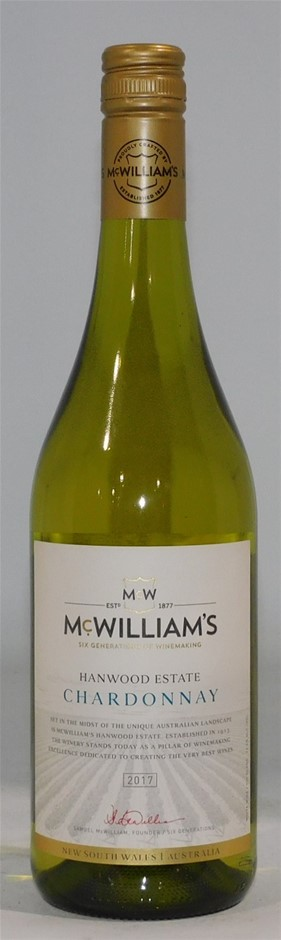 McWilliams Hanwood Estate Chardonnay 2017 (12 x750mL) NSW.