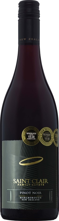 Saint Clair Origin Pinot Noir 2018 (6 x 750mL), Marlborough, NZ.