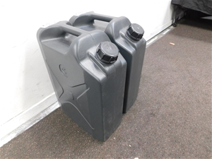 Qty 2 x 20 Litre Poly Water Can