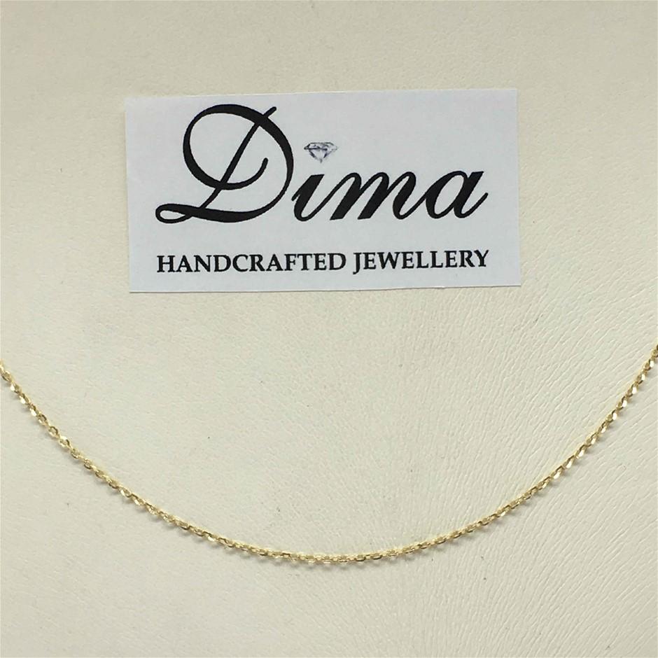 9 Karat Italian Yellow Gold Chain Necklace