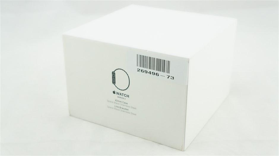 Apple Watch Series 2 42mm Space Black Stainless Steel Link Bracelet MNQ02XA