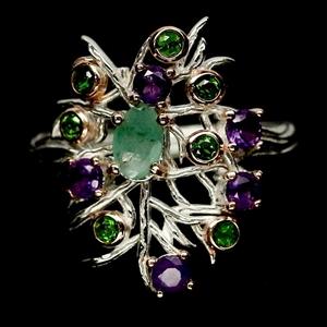 Lovely Emerald, Amethyst & Chrome Green