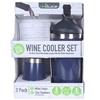 REDUCE Wine Cooler Set, Comprising; Wine Cooler & 12oz Tumbler, Navy. (SN:C