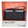 THE SAK 3-in-1 Genuine Leather Phone Wallet w/ Clip on Wristlet & Adjustabl