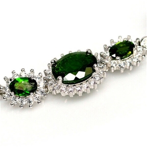Gorgeous Green Chrome Diopside Tennis Br