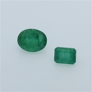Two Loose Emerald, 5.80ct in Total