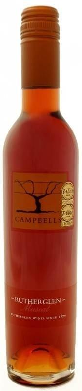 Campbells Rutherglen Muscat NV (12 x 375mL, half bottle), VIC.