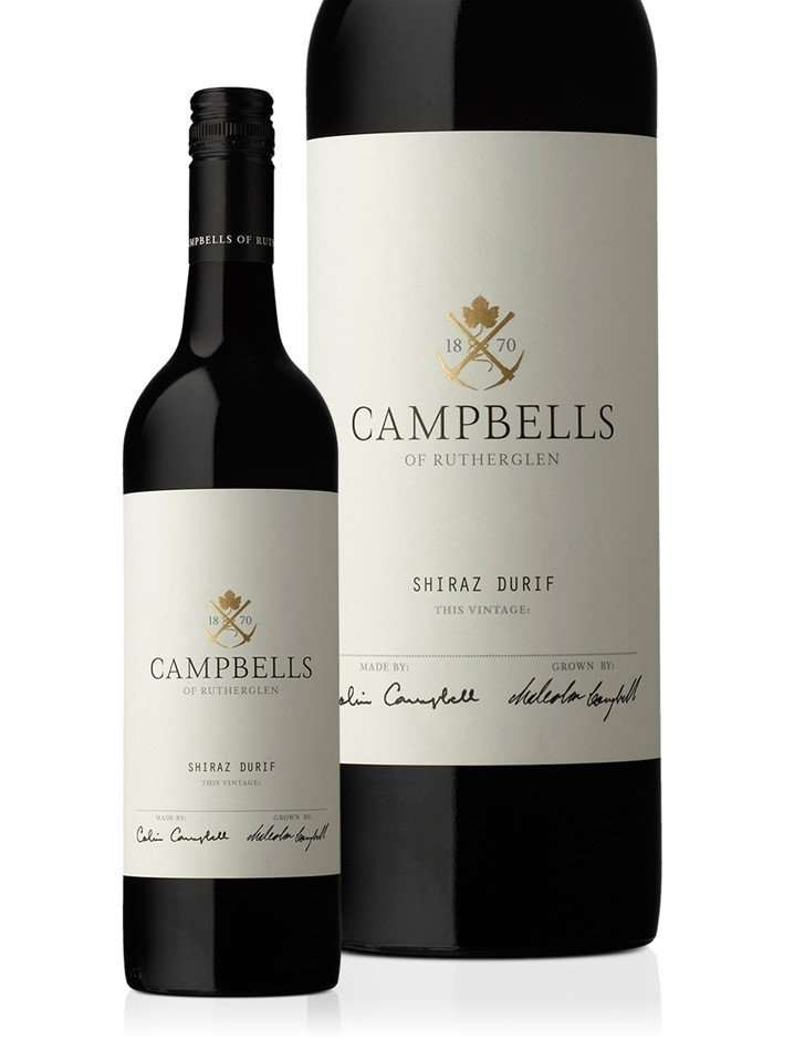 Campbells Shiraz Durif 2017 (6 x 750mL), Rutherglen, VIC.