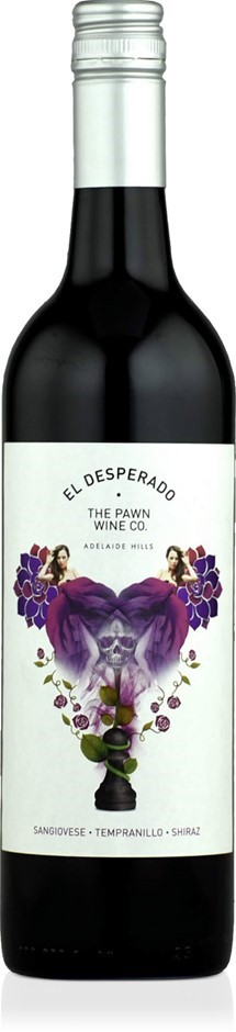 The Pawn Wine Co. El Desperado Sangi Temp Shiraz 2018 (12 x 750mL), SA.