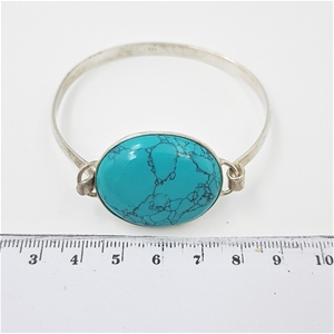 Sterling Silver & Turquoise Cuff.