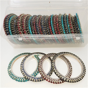 Collection Of 35 Crystal Bangles. Differ