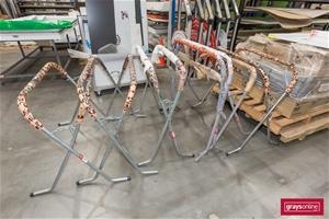 Spray Booth Panel Racks, Quantity x 6