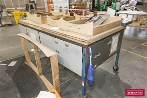 2 x Mobile Work Benches, with Aluminium
