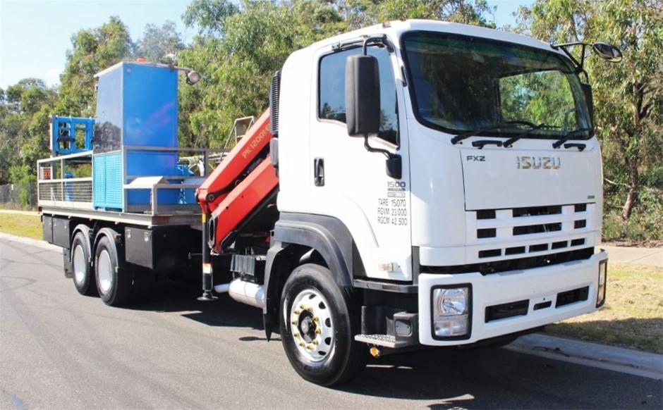 2011 Isuzu FX1500 6 x 4 Crane Truck 132,354km's(Ex Energy Company)