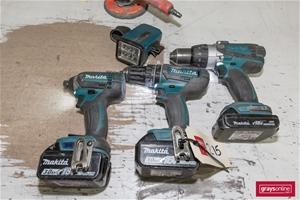 Makita Assorted Cordless Hand Power Tool
