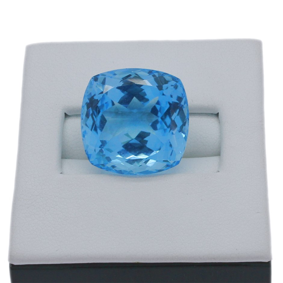One Loose Blue Topaz, 34.60ct in Total