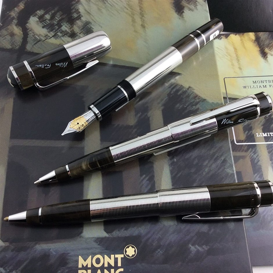 Montblanc Writers Edition William Faulkner Limited Edition Pen Set of 3 (M)