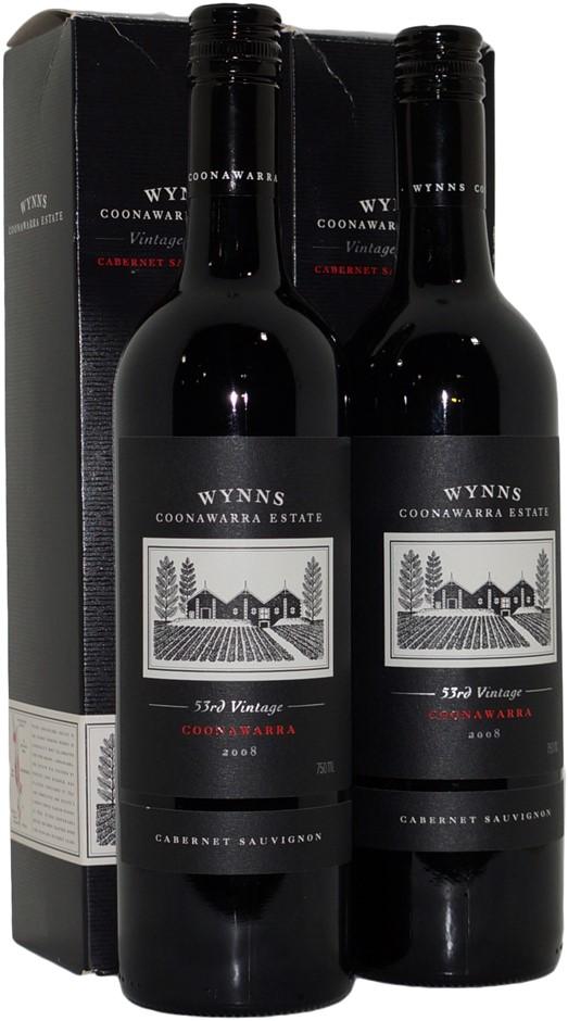 Wynns 53rd Vintage Cabernet Sauvignon 2008 (2x 750mL), Coonawarra