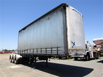 2001 Freighter ST-3 Triaxle Curtainsider Lead Trailer