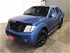 2013 Nissan Navara 4X4 ST D40 Turbo Diesel Manual Dual Cab