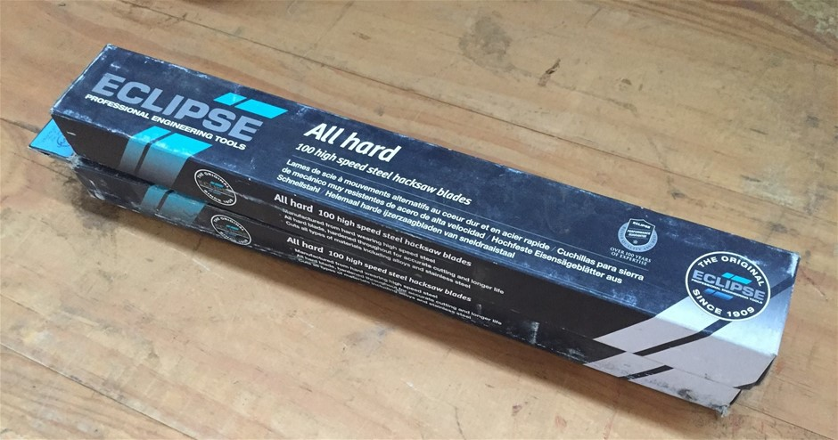 1x Box Comprising Eclipse Pro Engineering Tools Hack Saw Blades