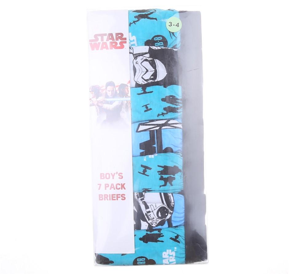 2 x STAR WARS Boy`s 7pk Briefs, Size 3-4, Cotton/ Polyester, Theme Print. (