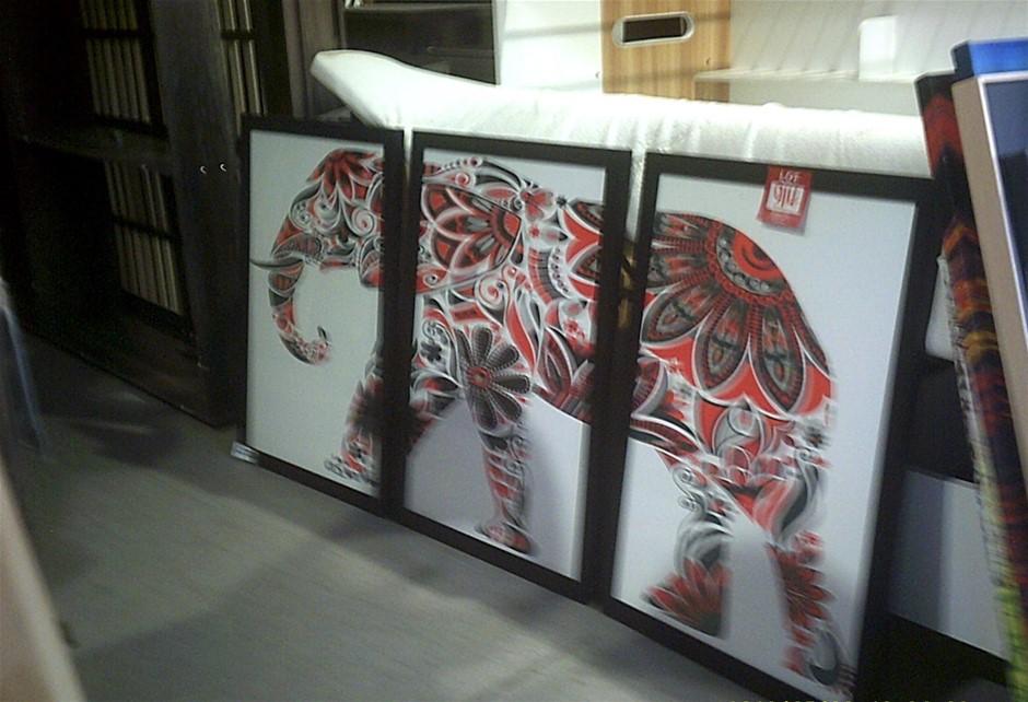 3 Piece Elephant Print Set.