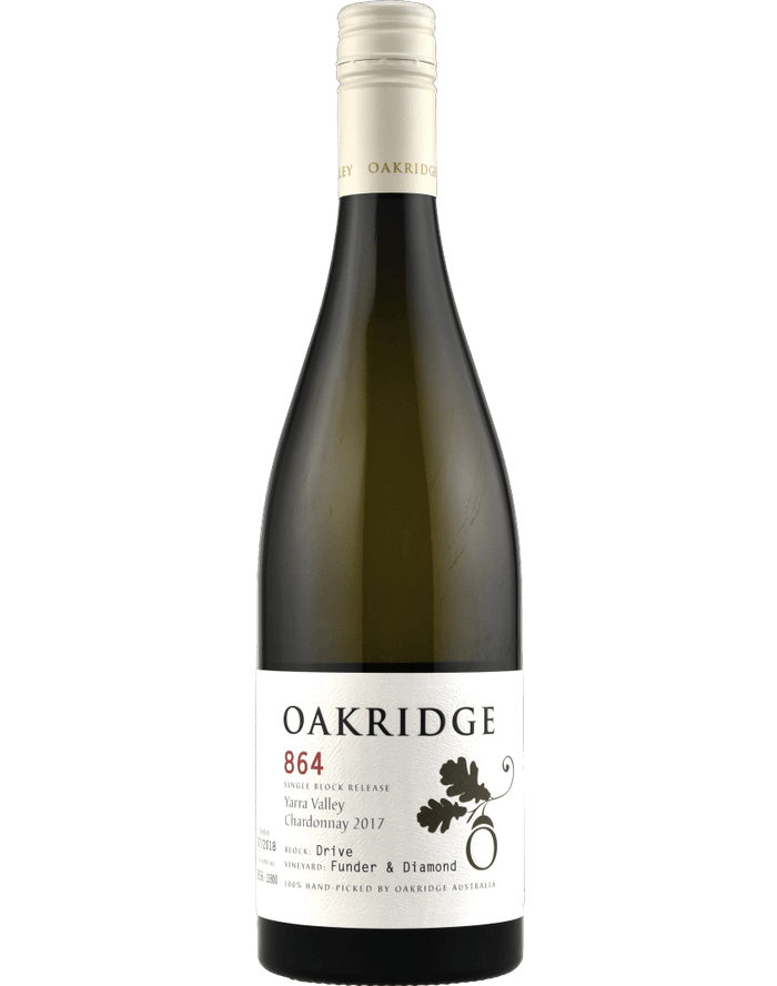 Oakridge 864 Funder & Diamond Drive Block Chardonnay 2017 (6x 750ml), VIC