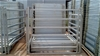 Galvanised Horse Gate with chain latch, 2.2m(L) x 1.85m(H), 50x50
