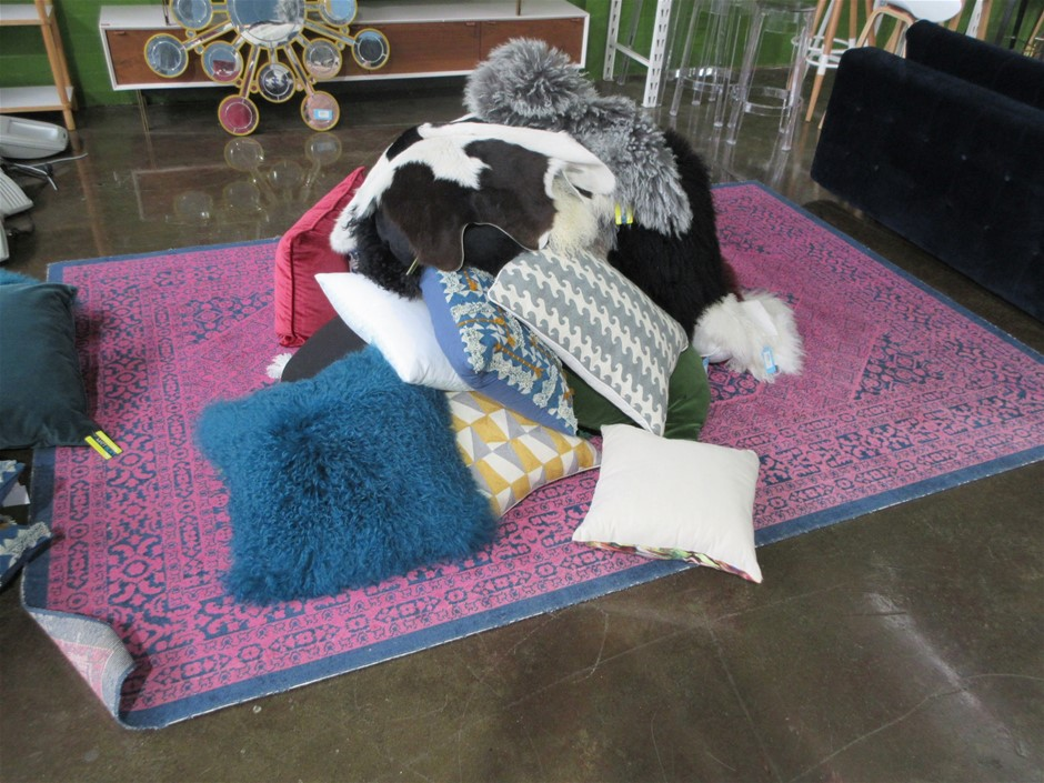 Sheep Skin Rugs And 2 X Cow