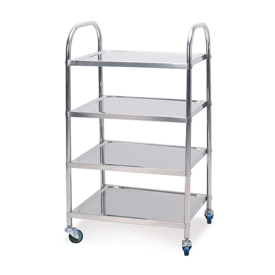 SOGA 4 Tier S/S Kitchen Dining Food Cart Trolley Utility 860x540x1170
