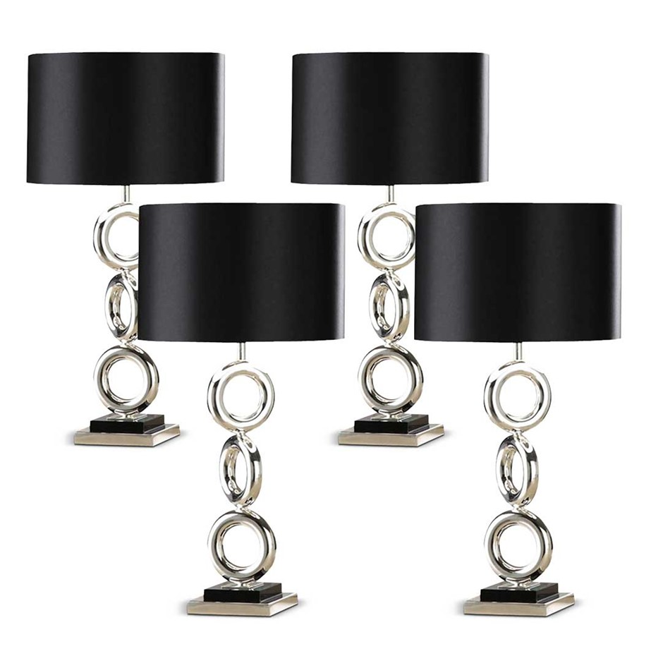 SOGA 4x Simple Industrial Style Table Lamp Metal Base Desk Lamp
