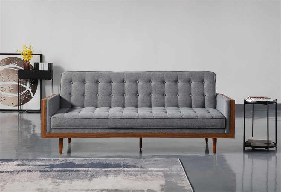 Tulip 3 Seater Sofa Bed Grey