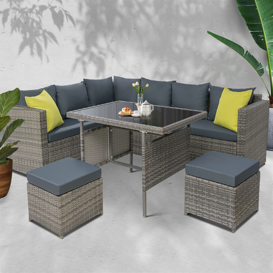 Gardeon Outdoor Furniture Patio Set Dining Garden Wicker