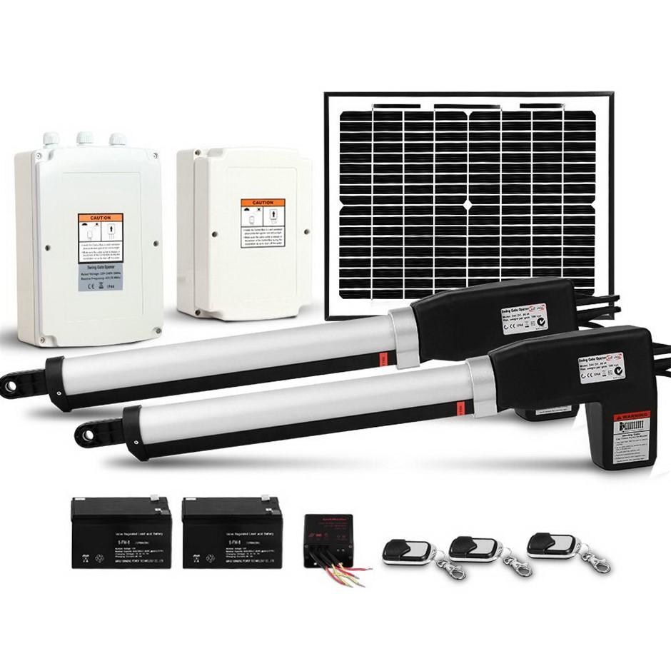 Giantz Gate Opener Double Auto Solar Electric Swing Kit 1000KG