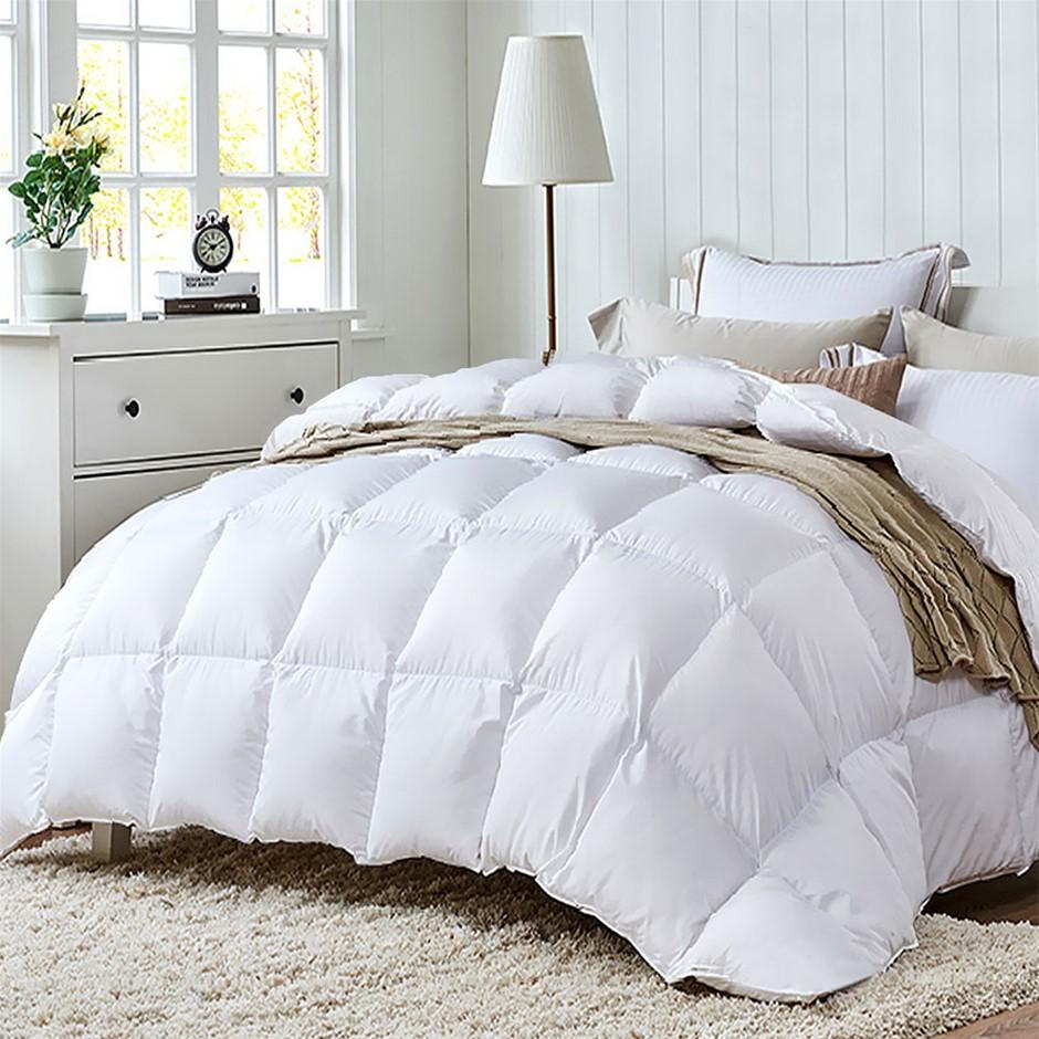 Giselle Duck Down Feather Quilt 700GSM Blanket Cover Doona Winter Queen