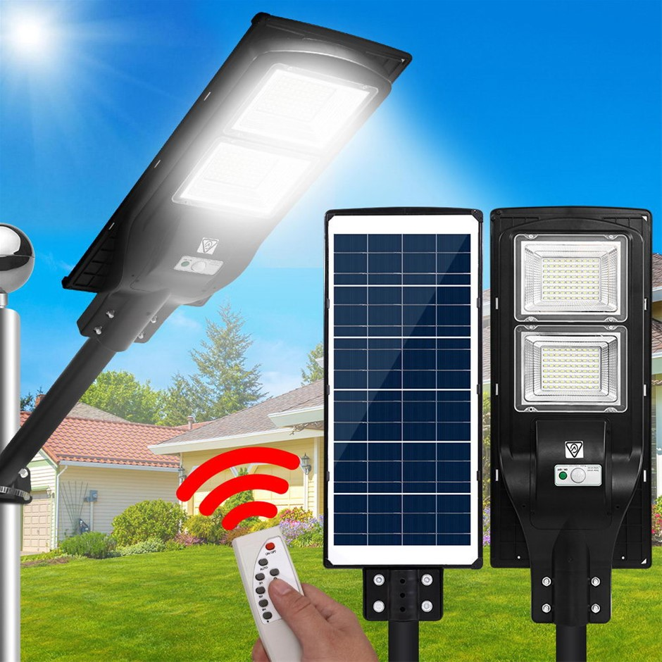 LED Solar Street Flood Light Motion Sensor Remote 90W