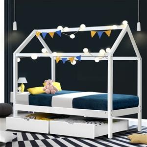 Artiss Wooden Bed Frame Single Size Matt