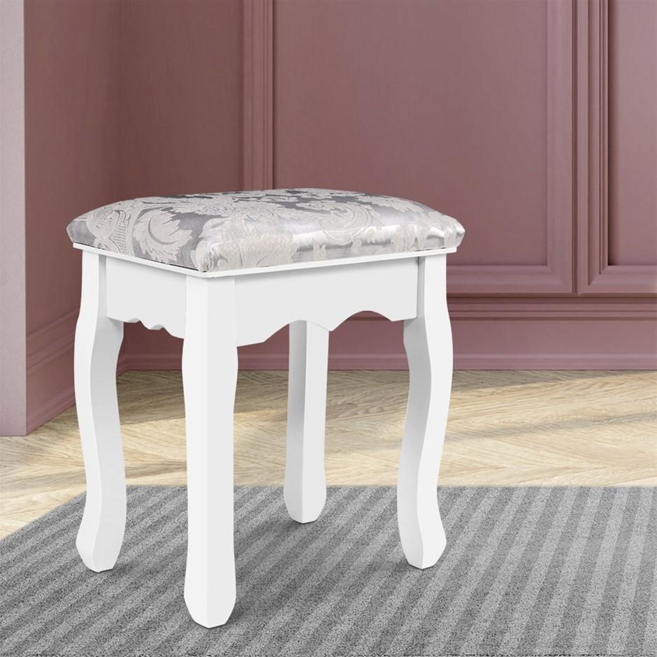 Artiss Dressing Stool Bedroom White Make Up Chair