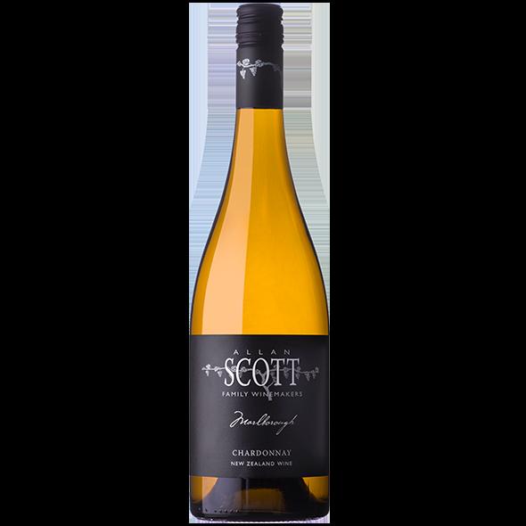 Allan Scott Black Label Marlborough Estate Chardonnay 2018 (12x 750mL). NZ