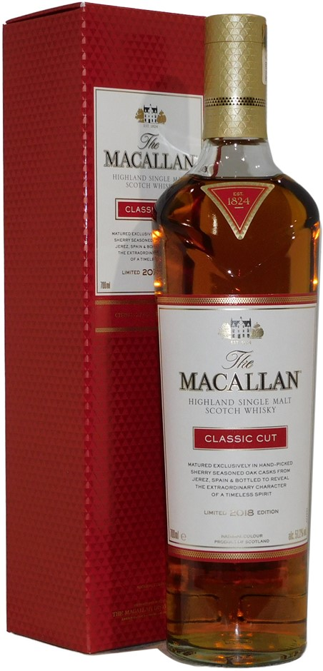 The Macallan Classic Cut Cask Single Malt Scotch Whisky 2018 (1x 700mL)