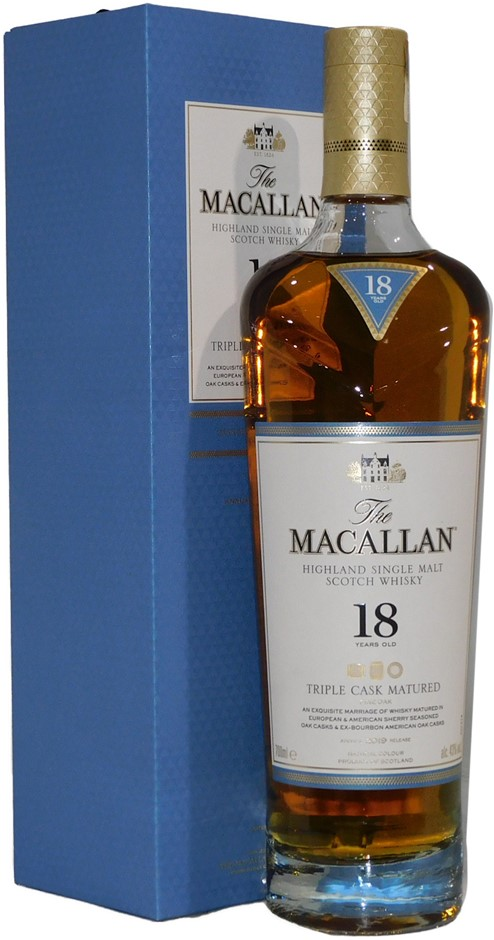 The Macallan Fine Oak 18 Year Highland Single Malt Scotch Whisky (1x 700mL)