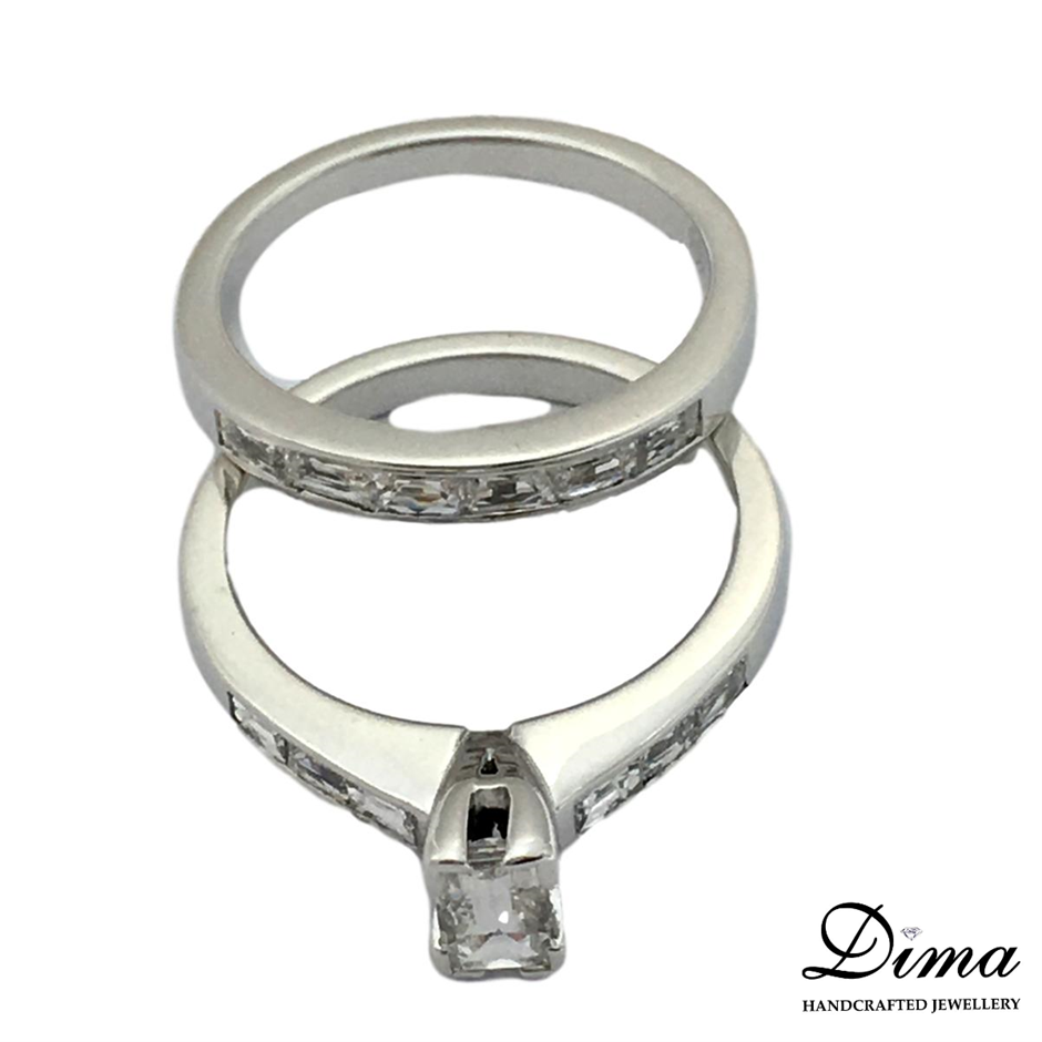 18ct White Gold, 1.53ct Diamond Engagement Ring