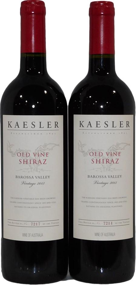 Kaesler Wines Old Vine Shiraz 2013 (2x 750mL), Barossa Valley