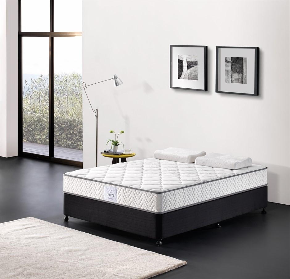 Breeze Double Mattress Bed Pocket Spring Comfort Firm 24cm High Density