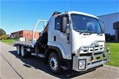 2010 Isuzu FVZ1400 6 x 4 Tilt Tray/Crane Truck Automatic