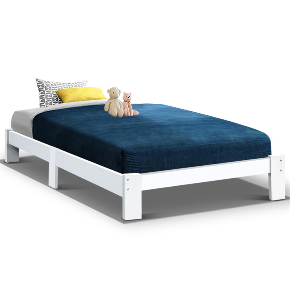 Artiss Bed Frame Single Wooden Bed Base Frame Size JADE Timber Mattress