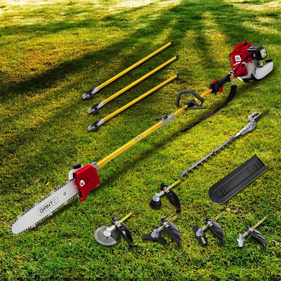 Giantz 75cc Pole Chainsaw Brush Cutter Hedge Trimmer Petrol Whipper